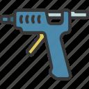 glue, gun, artist, artwork, gluing