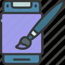 mobile, app, design, artist, artwork