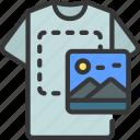tshirt, image, placement, artist, artwork
