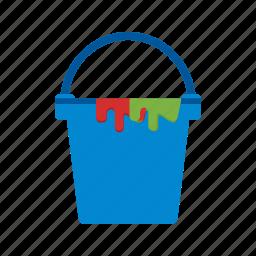 box, bucket, container, cream, paint, plastic icon
