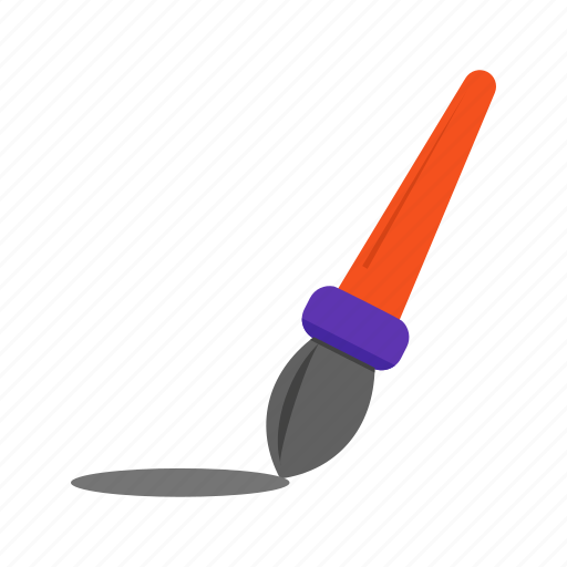 art, brush, design, drawing, line, paint, stroke icon