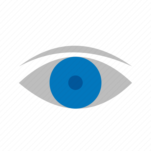 blue, circle, eye, eyeball, eyes, see, vision icon