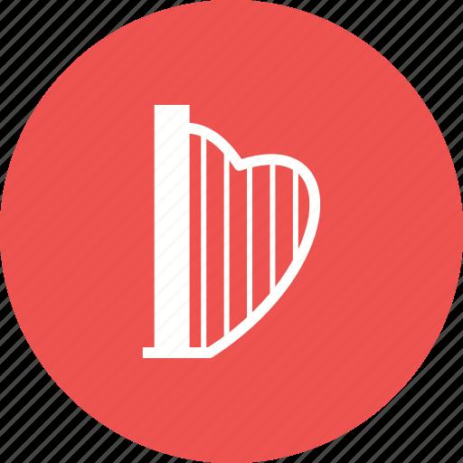Antique, art, lyre, instrument, shape, musical, harp icon