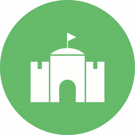 building, castle, flag, fort, historical, history, old icon