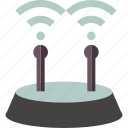 artificial, background, internet, wifi icon
