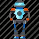 artificial intelligence, isometric, robot, robotic icon