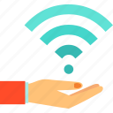 artificial, background, wifi, wireless icon