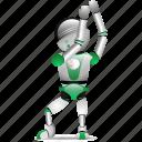 business, isometric, marketing, robotic icon
