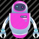 intelligence, isometric, machine, robot icon