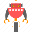 cyborg, intelligence, isometric, robot icon
