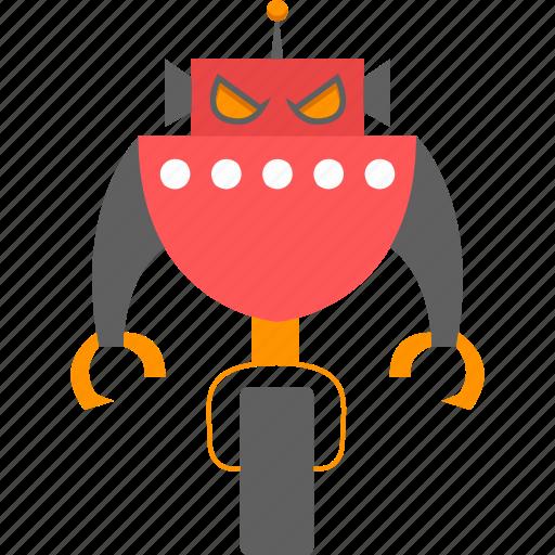 cyborg, intelligence, isometric, robot icon