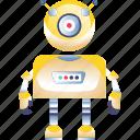 intelligence, isometric, machine, manufacturing icon