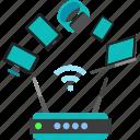 artificial, background, modam, technology icon