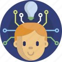 intelligence, artificial, robot, technology, humanoid icon