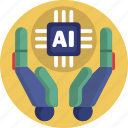 artificial intelligence, artificial, ai, humanoid, intelligence icon