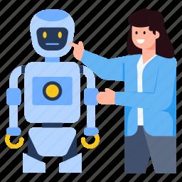 bot, robot, cyborg, artificial intelligence, robotic device