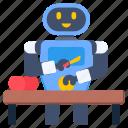 domestic robot, kitchen robot, cutting apples, robot, robotic work
