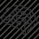 brain, circuit, intelligence, smart icon