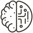 ai, artificial intelligence, brain, electronics, robotics, science fiction, technology icon
