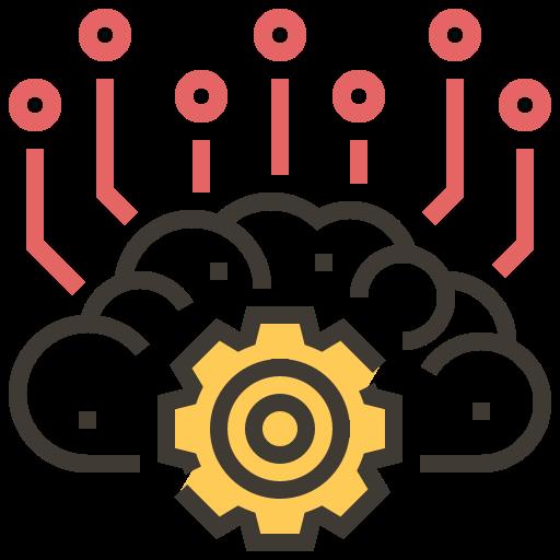 ai, artificial intelligence, brain, cloud, electronics, robotics, technology icon