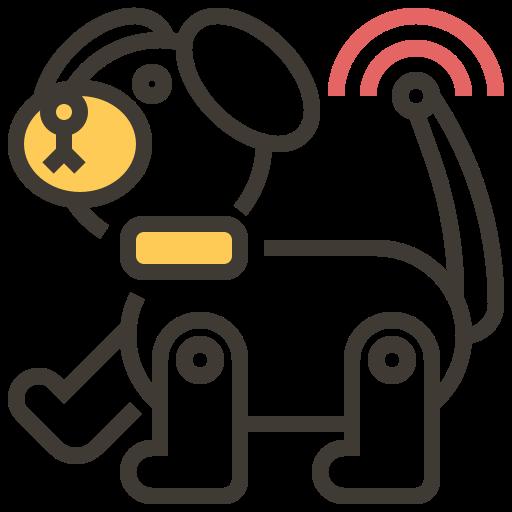 ai, artificial intelligence, automaton, brain, dog, robotics, technology icon