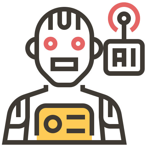 ai, artificial intelligence, automaton, brain, electronics, robotics, technology icon