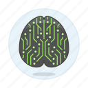 ai, artificial, brain, chip, circuit, computing, core, cpu, intelligence, network, neural, node icon