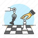 ai, intelligence, chess, game, logic, 2, robot, artificial, machine, analysis, arm, learning, tactical icon