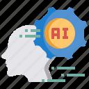 artificial intelligence, computer, future, gear, human, setting, technology