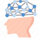 artificial intelligence, brain, human, operating, processor, structure, system icon