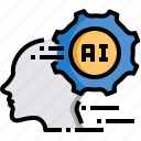 artificial intelligence, brain, futuristic, human, processor, technology icon