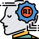 artificial intelligence, brain, connection, invention, network, system, technology icon