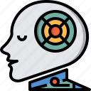 artificial, artificial intelligence, futuristic, intelligence, invention, robot, technology icon