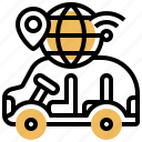 autonomous, car, innovation, transportation, vehicle icon