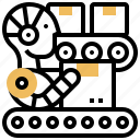 autonomous, conveyor, industry, machine, robot icon