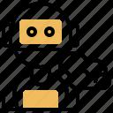 artificial, cloud, futuristic, intelligence, robotics icon