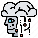 artificial, learning, intelligence, machine, robotic icon