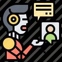 assistant, chatbot, communication, help, robot