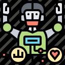 crunching, data, intelligent, processing, robotic