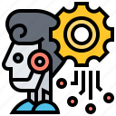deep, intelligence, learning, processor, robotic icon