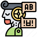 language, learning, processing, translator icon