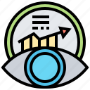 analysis, information, report, trend, predictive icon