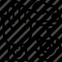 electronics, integrated, intelligence, machine, processing icon