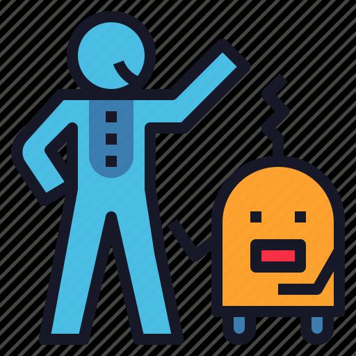 Assistant, help, home, human, robot, robotics icon - Download on Iconfinder