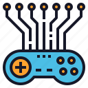 ai, artificial, game, intelligence, play, programming icon