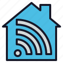 digital, home, security, smart, tech, wifi icon