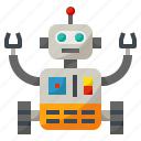 artificial, industry, intelligence, machine, robot icon