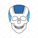 skull, artificial, implant, prosthetic, organ, limb, plate icon