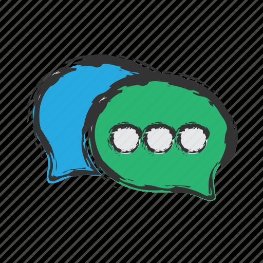 chat, message, speech, talk icon