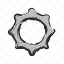 cog, gear, menu, settings, wheel icon